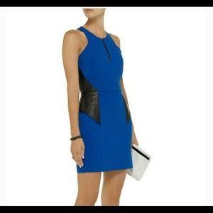 Michelle Mason Cobalt Blue Halter Sheath Dress